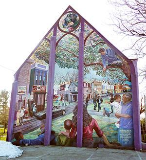 Ann Northrup's mural,