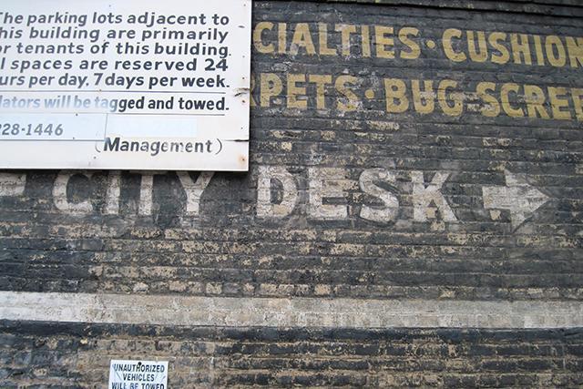 city desk sign