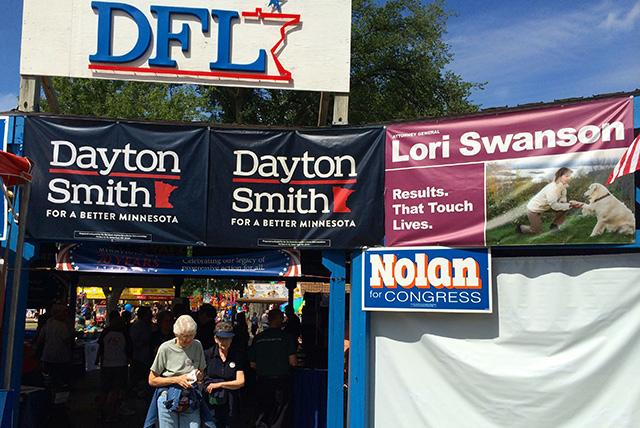 The DFL booth, on Dan Patch, near Cooper.
