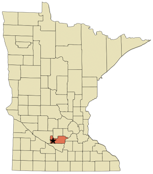 map locating gibbon mn