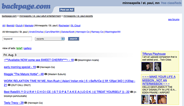 Backpage Mn