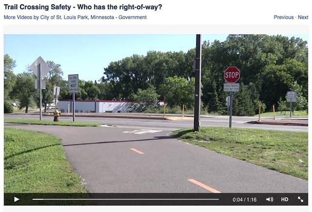 Who has the right of way where trails meet roads? It depends