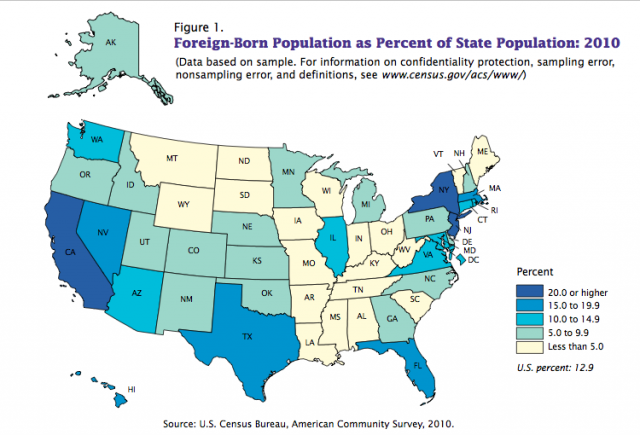 Immigrants By State Map.Census Pegs Minnesota S Foreign Born Population At 7 1 Minnpost