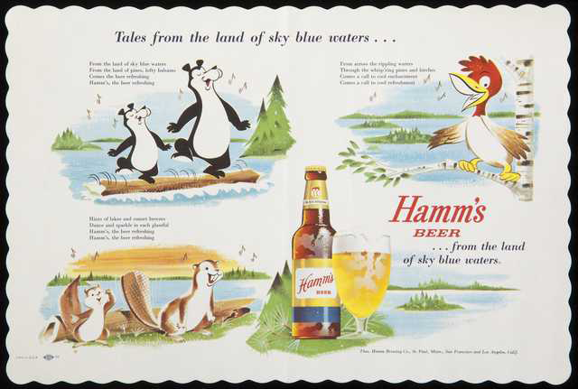 In the '50s, using a cartoon bear to advertise beer was