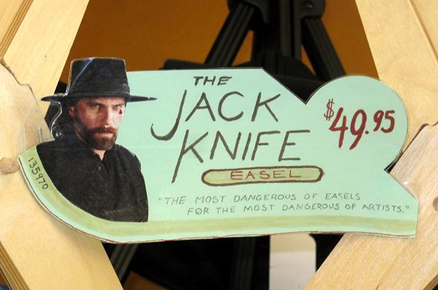 jack knife easel sign