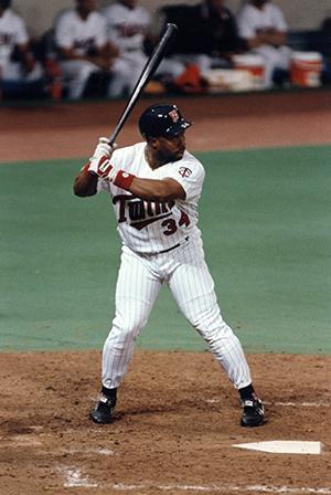 Kirby Puckett at bat