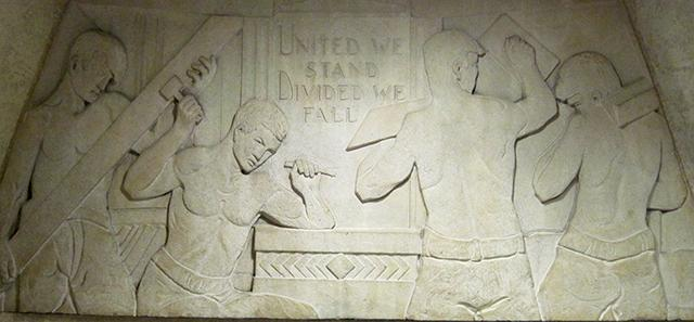 bas relief labor sculpture