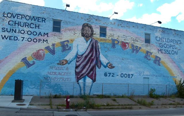 Jesus Love Power Mural