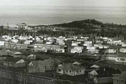 Reserve Mining Company Village, View of Silver Bay