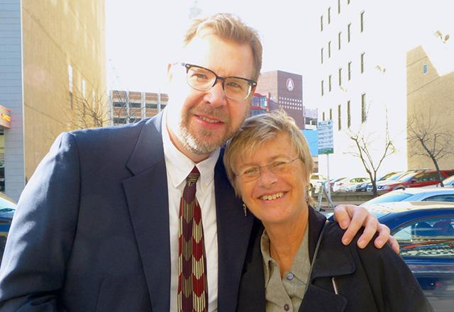 Corey Anderson and contributing journalist Terry Gydesen