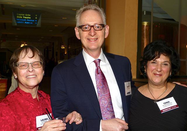 MinnPost chief revenue officer Laurie Kramer, Marty Rosenbaum and MinnPost adver