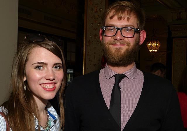 Greta Kaul and former MinnPost reporter James Nord