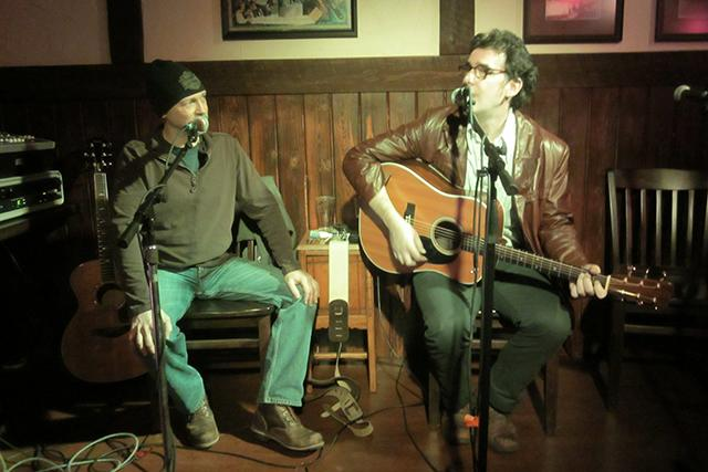 Maser and Collins at Morrissey Irish Pub's Monday night song pull