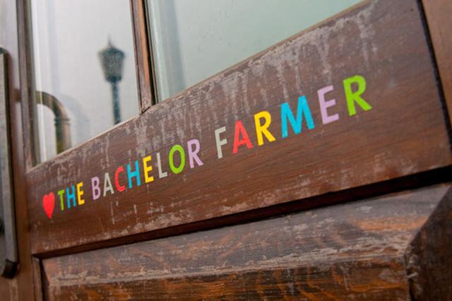 The Bachelor Farmer's simple sign