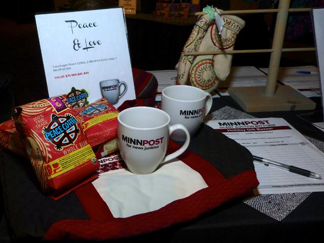 Peace Coffee and MinnPost mugs to the highest bidder