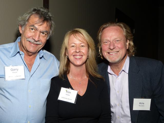Anniversary party sponsors Gary and Kim Kieves, and Kris Wyrobek