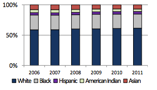 Race/Ethnicity of SNAP-eligible  Adults