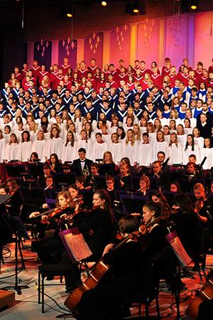 choirs and orchestra