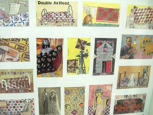 quilt postcard collage