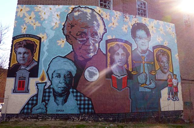A Germantown mural celebrating the women of the mostly African American lower-mi