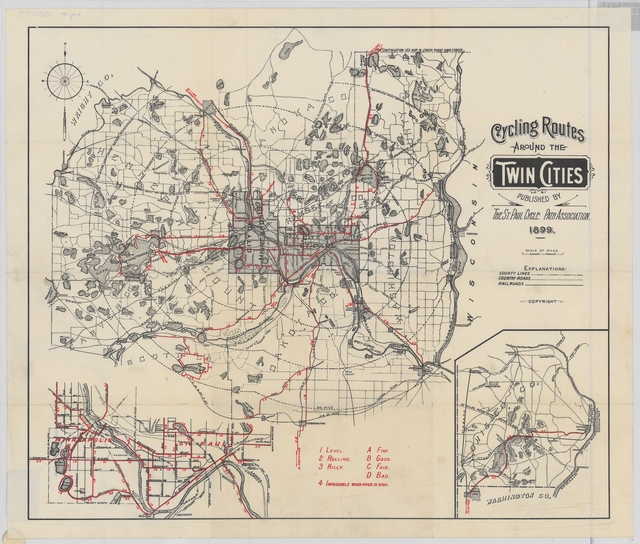 1899 map of cycling routes