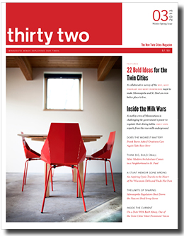 cover of winter-spring edition of 'thirty two' magazine
