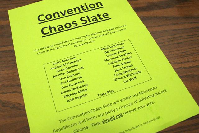 Chaos slate flier