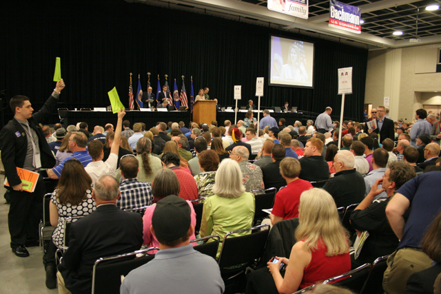 The action begins at the 2012 Minnesota GOP convention.