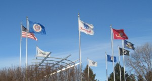 Flags at Woodbury City Centre March 2,2013