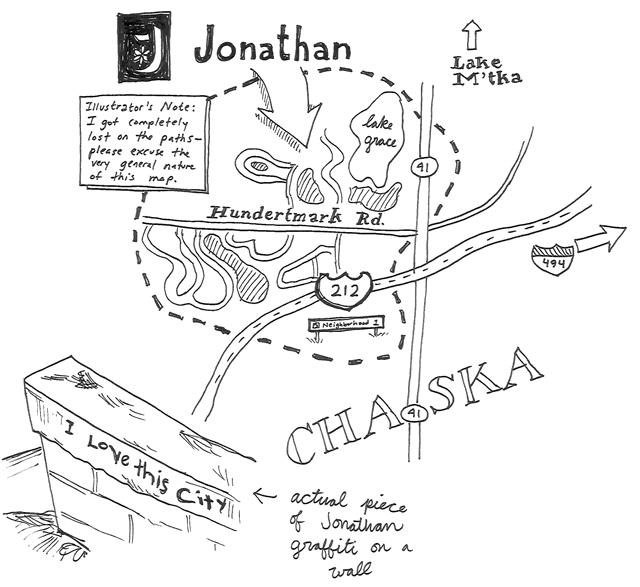 Map of Jonathan Minnesota