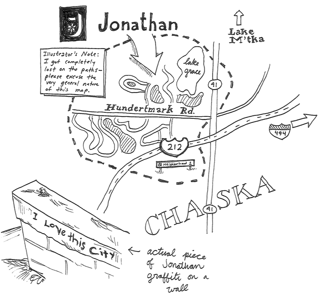 Map of Jonathan Minnesota