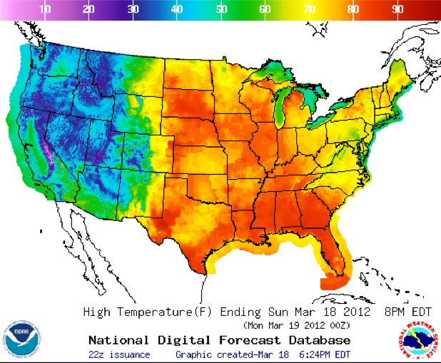 Hot weather map