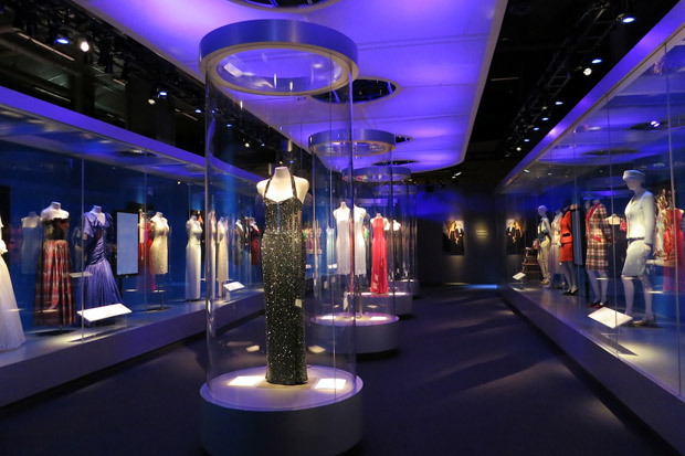An exhibition of Princess Diana's gowns at the Mall of America