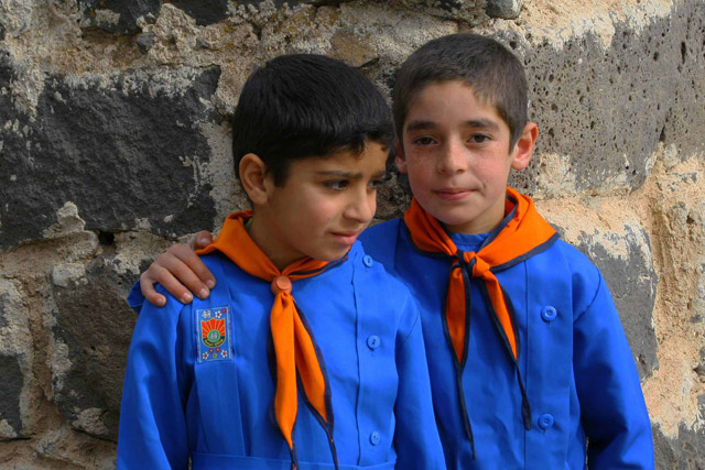 Syrian students in Homs