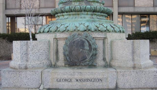 George Washington flagpole