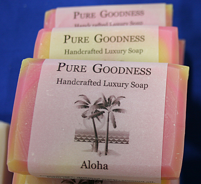 Pure Goodness, a vendor from Farmington, was handing out samples of handcrafted luxury soap.