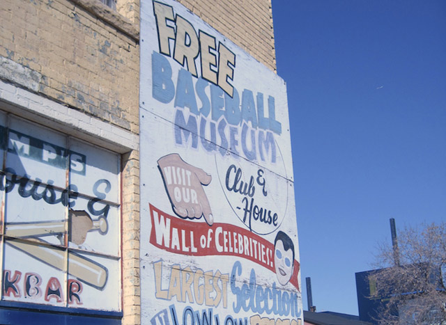 sign advertising baseball museum