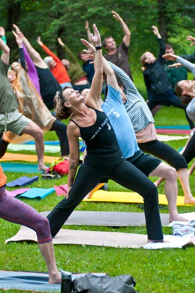 Yoga out of captivity