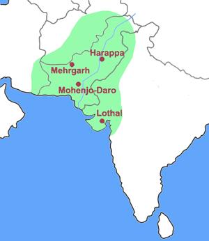 Map of Harappa civilization