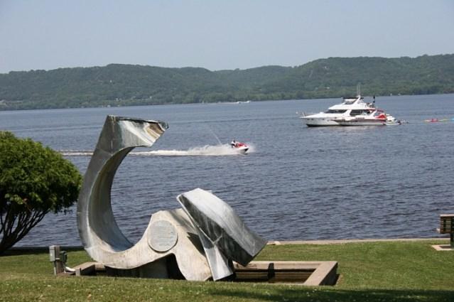 Lake City anchor sculpture