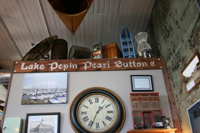 interior sign in lake city pearl button