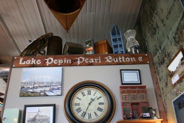 interior sign in lake city pearl button