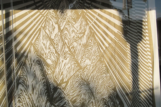 Michael Wong's radiant mountain print