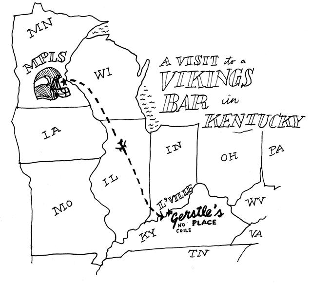 map of minnesota and kentucky