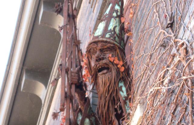 metal wizard sculpture