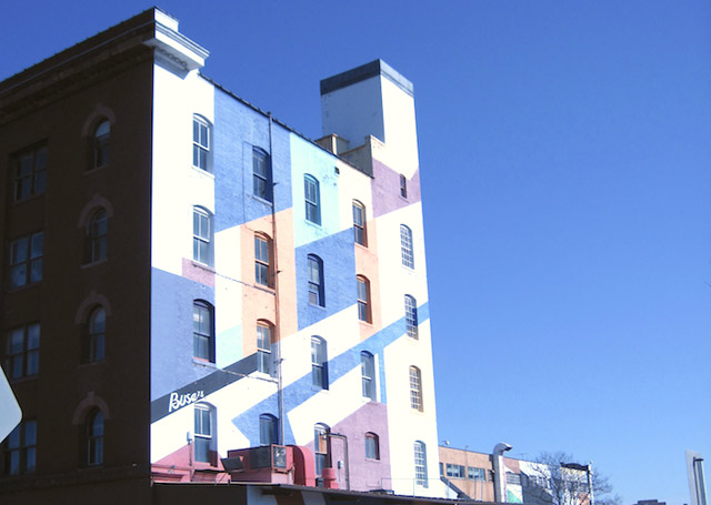 multicolored painted building