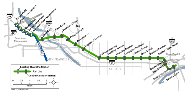 Central Corridor Route Map