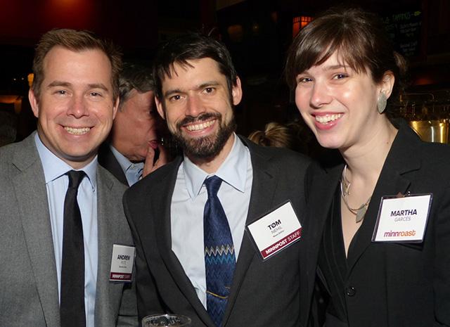 Andrew Putz, Tom Nehil and Martha Garcés