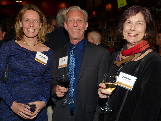 Michelle Woster, Peter Dross and Patricia Bronstein