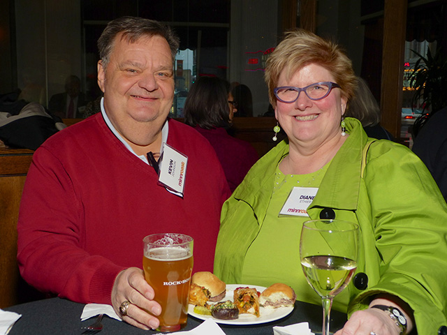 Kevin Johnson and Diane Ethier